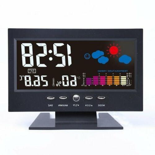 LCD Weather Wireless Barometer Temperature Alarm