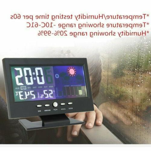 LCD Barometer Temperature Snooze Alarm Clock