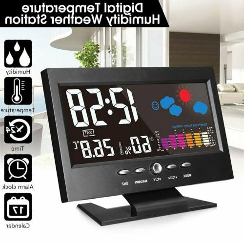 lcd weather station wireless barometer temperature humidity