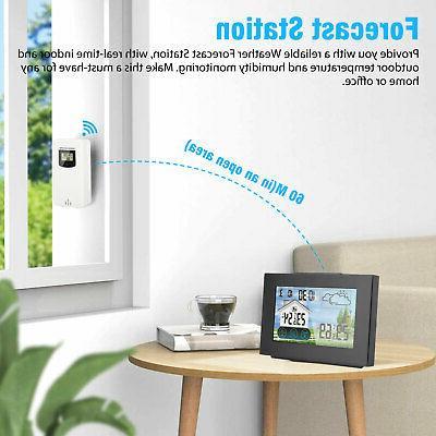 LCD Remote Sensor Indoor Calendar Thermometer