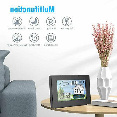 LCD Wireless Remote Sensor Calendar Thermometer