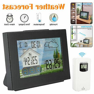 lcd wireless weather station remote sensor indoor