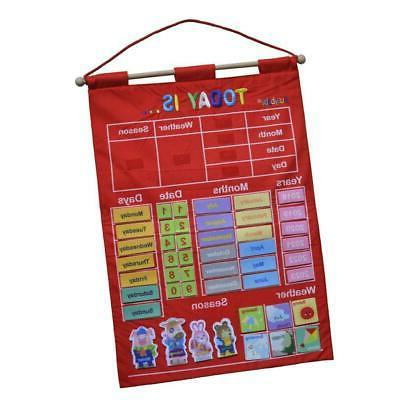 """17.12x25"""" Learning Calendar with Weather Station Season for"""