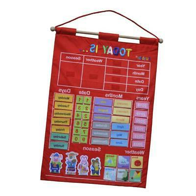 Learning Calendar with Weather Station for Kids Early Educat