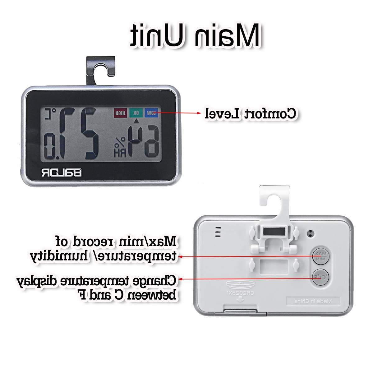 NEW Humidity Hygrometer Monitor <font><b>Station</b></font> Indoor Outdoor Bathroom