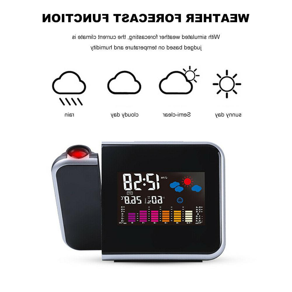 Projection Alarm Station Thermometer Monitor