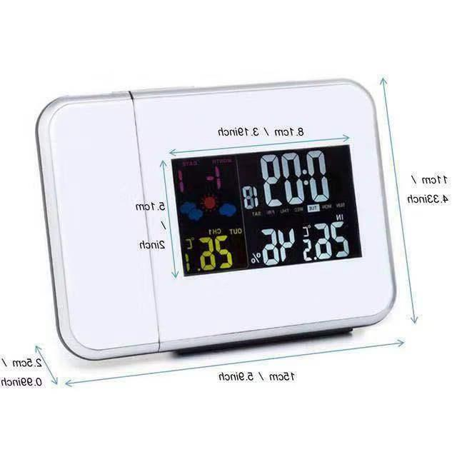 Projection Clock Station Temperature Monitor