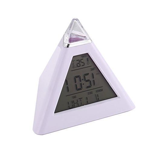 pyramid alarm clock thermometer