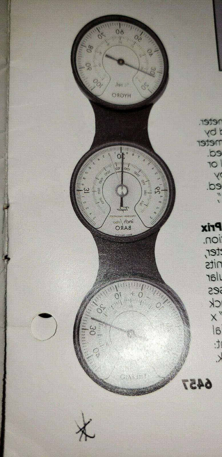 retro cockpit design weather station thermom hygrometer