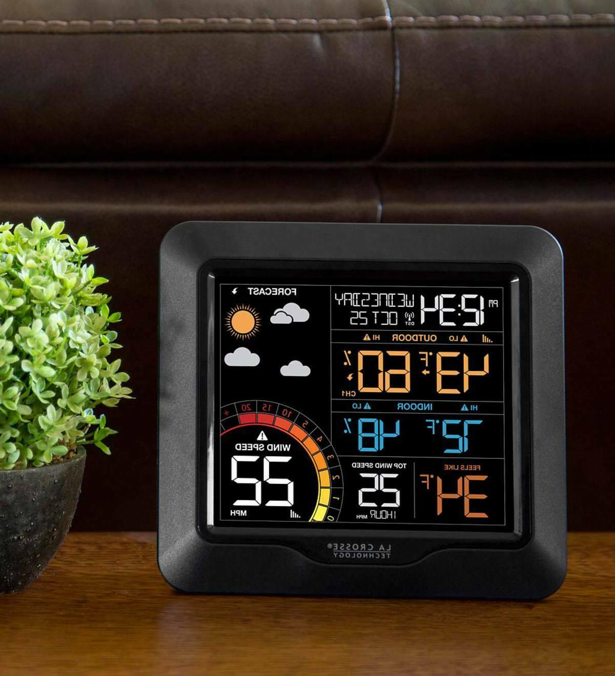 technology professional color wind speed weather station