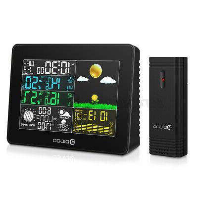 Digoo TH8868 Weather Station In/Outdoor Forecast Alarm Clock