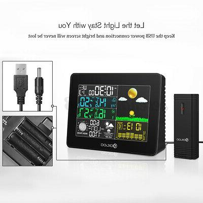 Digoo TH8868 Weather Station In/Outdoor USB Forecast Alarm US