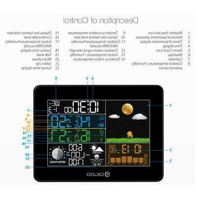 Digoo TH8868 Digital Forecast Alarm Clock