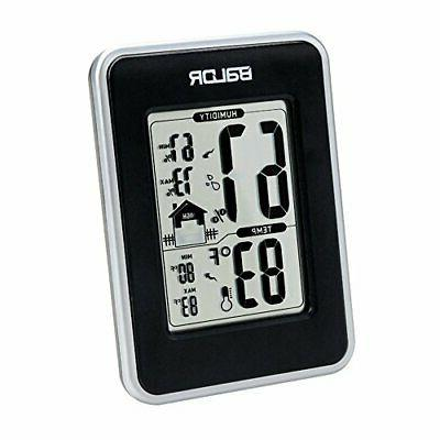 thermo hygrometer weather station black black