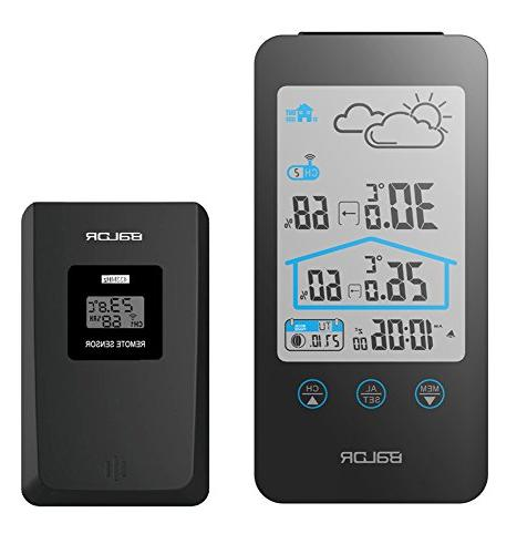 touch button weather station alarm