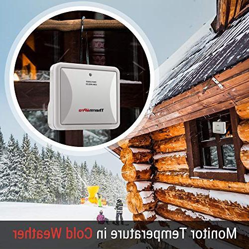Hygrometer Indoor Thermometer Wireless Monitor and Waterproof Gauge, Range