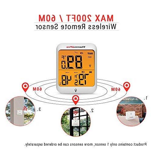 ThermoPro TP63 Hygrometer Indoor Outdoor Wireless Monitor with Waterproof Humidity Gauge, Range