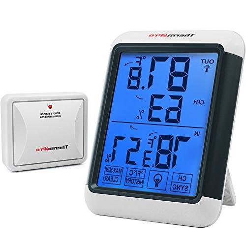 Wireless Weather Station Digital Clock Humidity Outdoor Thermometer Sen js
