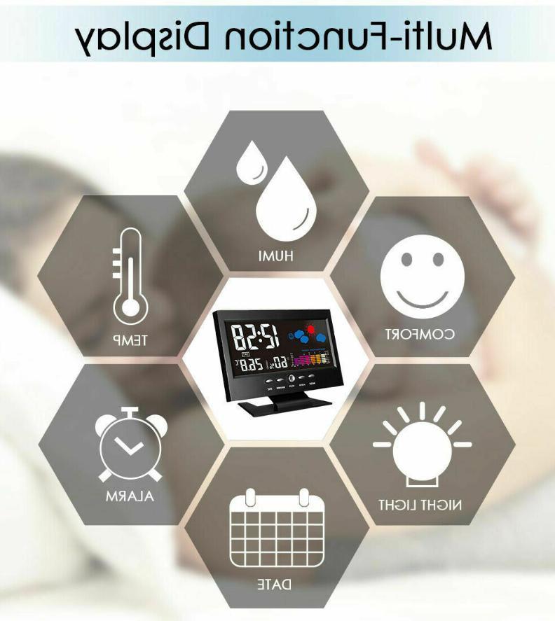 Weather Station Digital Alarm Voice Control LED