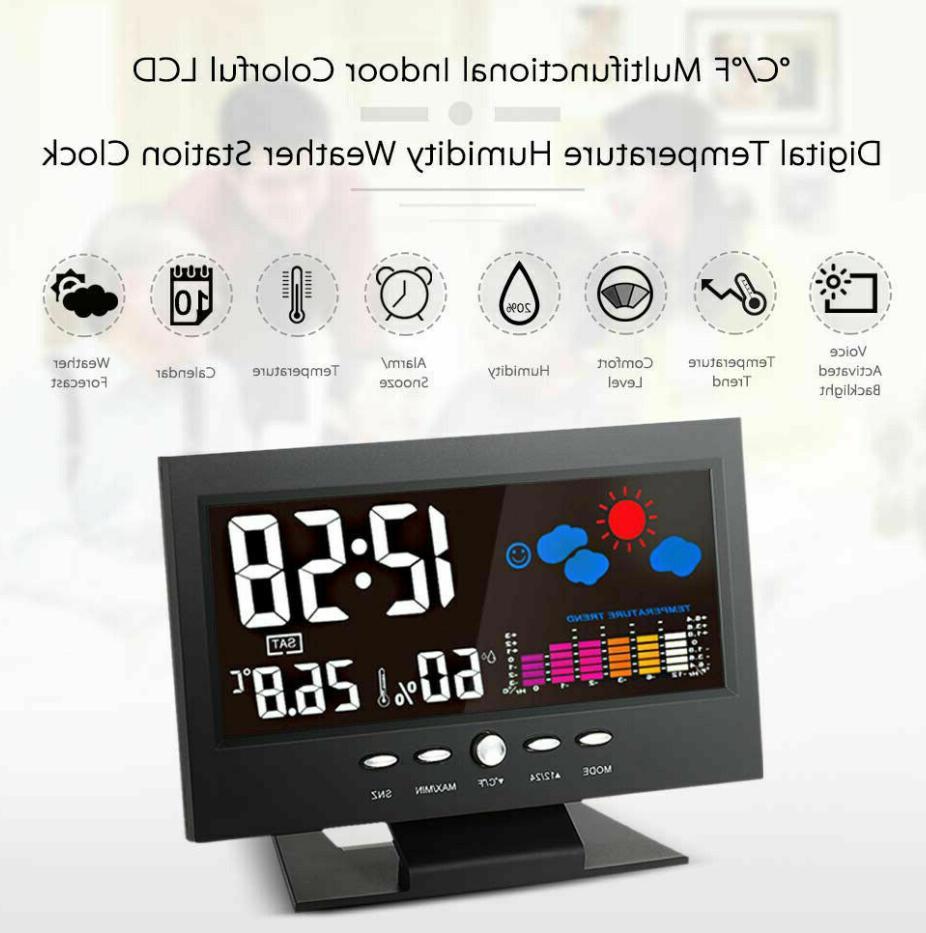 Weather Digital Voice LCD Clock