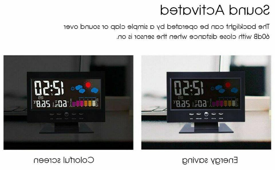 Weather Digital Voice Control LCD Clock