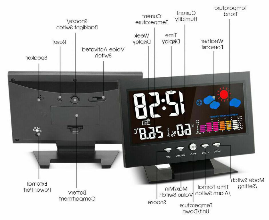 Weather Digital Voice LED Back-light LCD