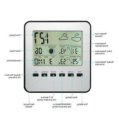 AMIR Upgraded Weather Station, Thermomete... New