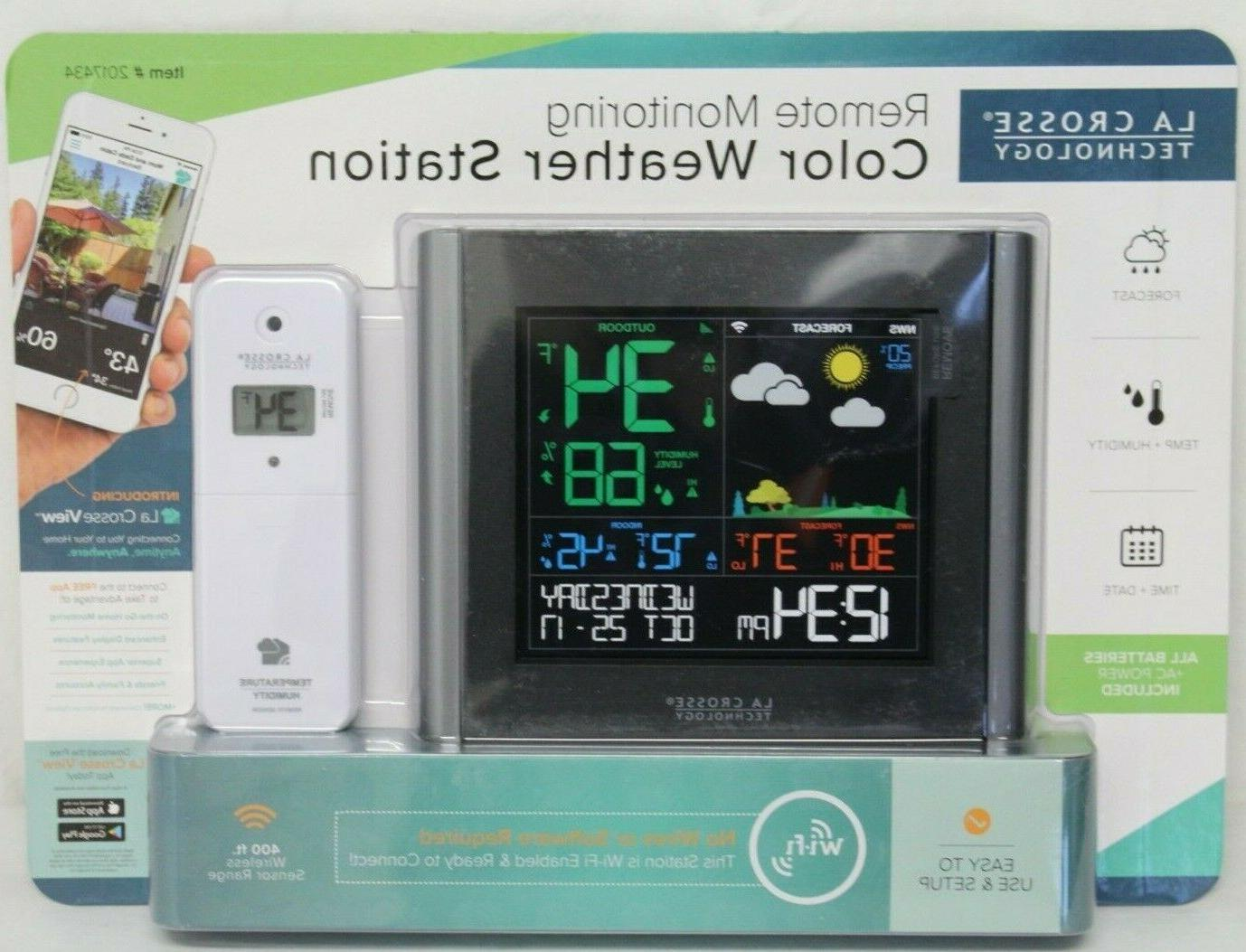 v10 th remote monitoring color weather station