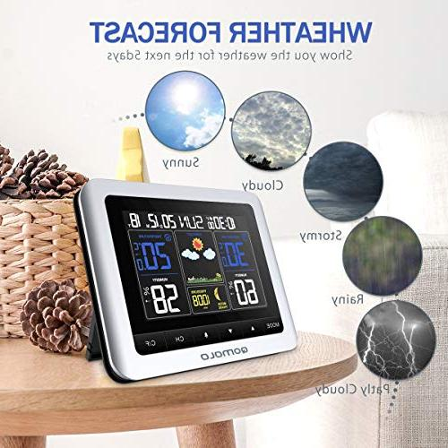 Weather Outdoor thermometer Barometer Wireless Forecast with Monitor, Alarm Clock,