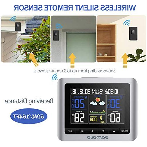 Outdoor Wireless Forecast Station with Remote Humidity Monitor, Readings