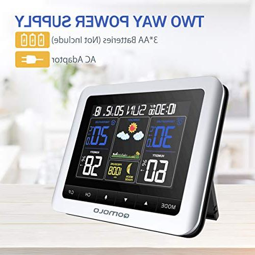 Outdoor thermometer Hygrometer Wireless Forecast with Remote Sensor, Monitor, Readings