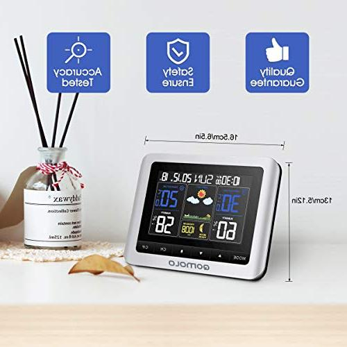 Weather Outdoor thermometer Hygrometer Wireless with Remote Monitor, Alarm Clock, Readings