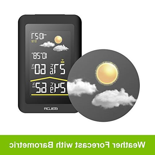 BALDR Color Wireless Station LCD Weather Forecast, Pressure, Display Clock Temperature Humidity,