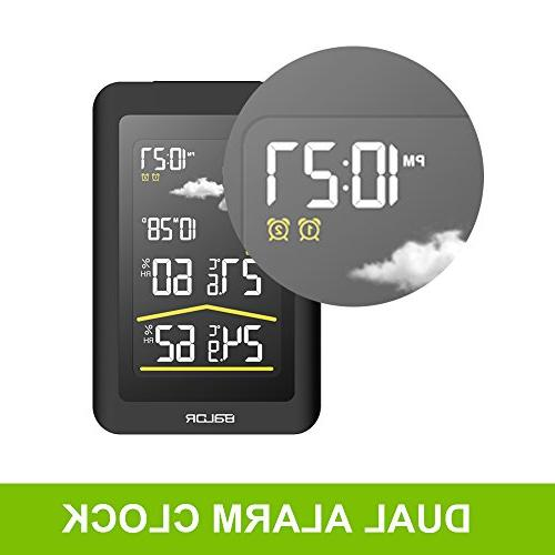 BALDR Color Wireless Station LCD Clock Temperature Humidity,