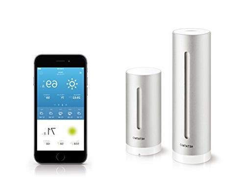 Netatmo Station Outdoor with Wireless Outdoor Sensor, with Alexa