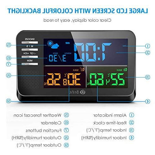 AMIR Color Display Calendar with Alarm with Thermometer for Home,Bedroom