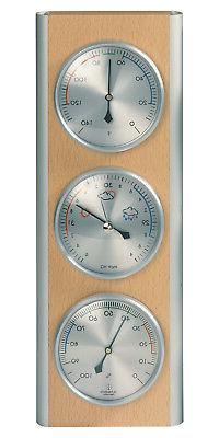 HOKCO Weather Station Barometer Thermometer Hygrometer Alumi
