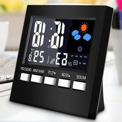 Indoor & Outdoor Weather Station Alarm Clock Calendar Thermo