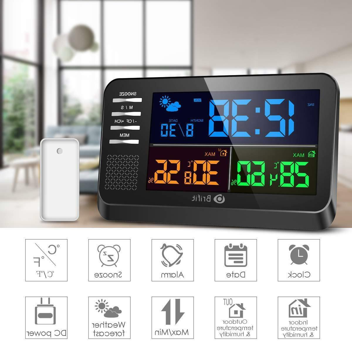 weather station large color display clock calendar