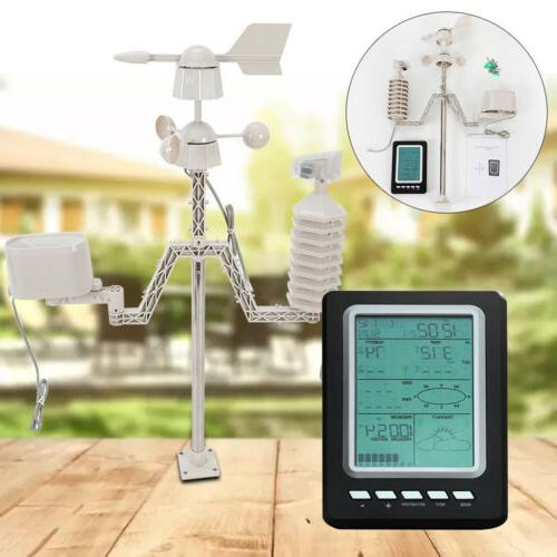 WIFI Wireless Weather Station Forecast Outdoor Solar Chargin