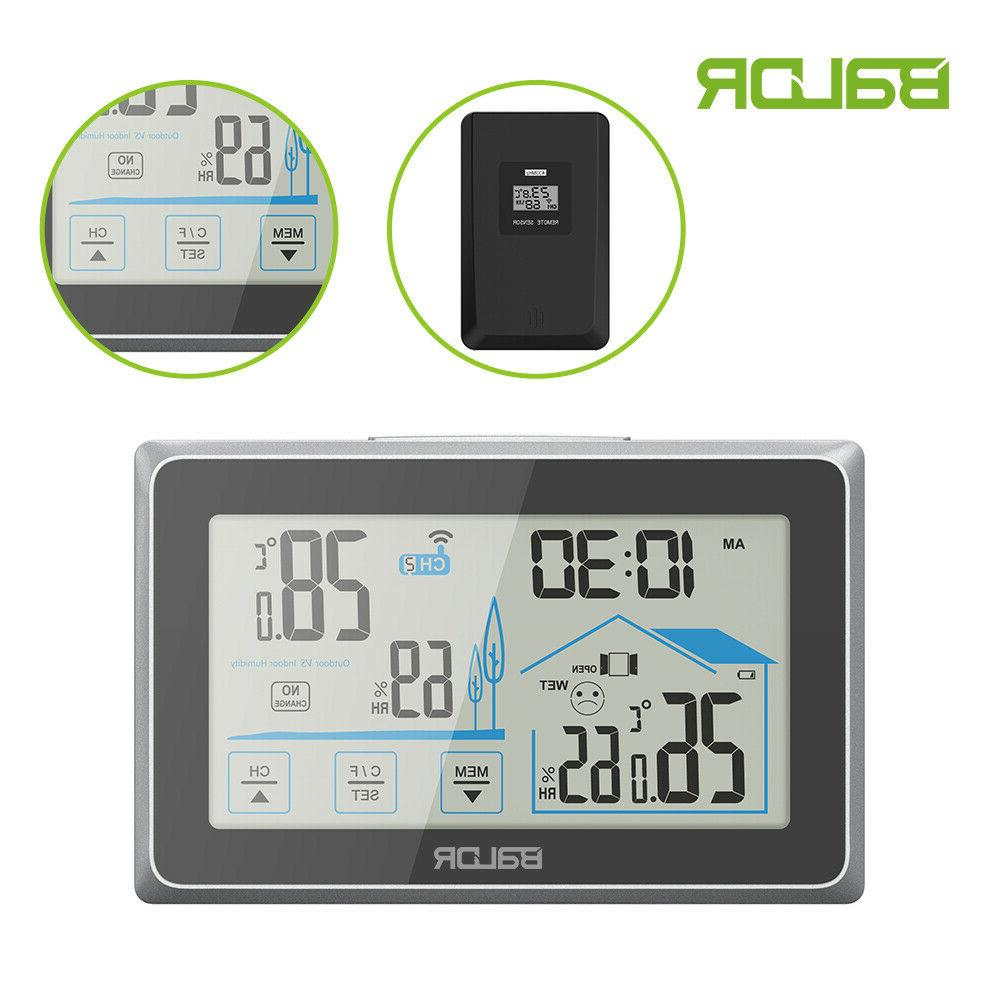 weather station wireless thermometer indoor outdoor sensor