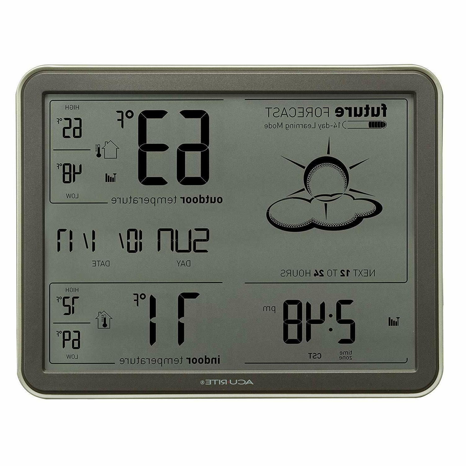 AcuRite Weather with Jumbo Display and Clock