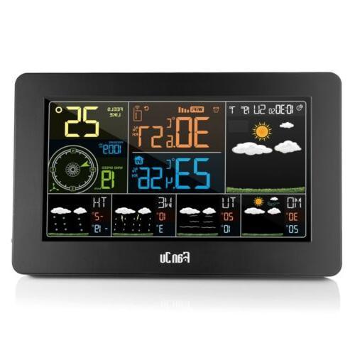 WIFI Temperature Barometric Weather Digital Alarm Clock