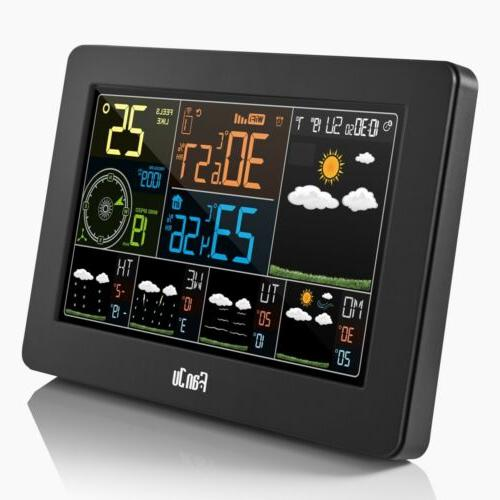 WIFI Temperature Barometric Weather Station Digital Alarm B