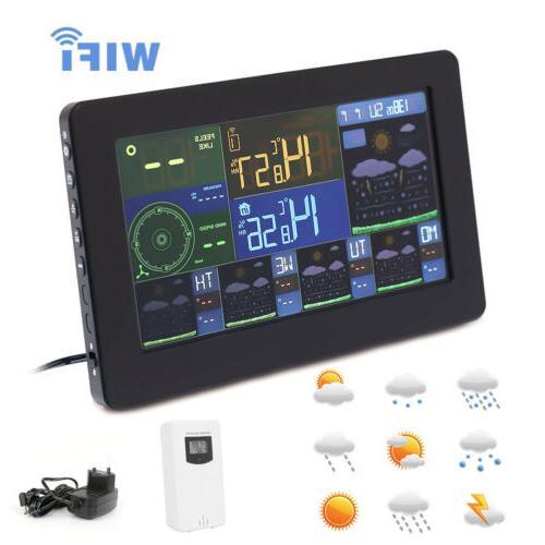 Wireless Weather Thermometer w/Remote Sensor WiFi Alarm