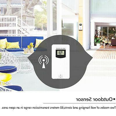 Digital Indoor Outdoor Clock Calendar Thermometer