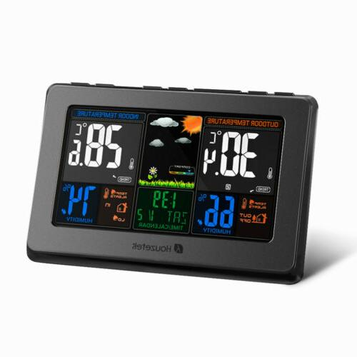 Digital Indoor Weather Station Clock Thermometer USA