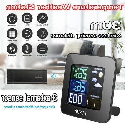 wireless digital lcd weather station indoor outdoor