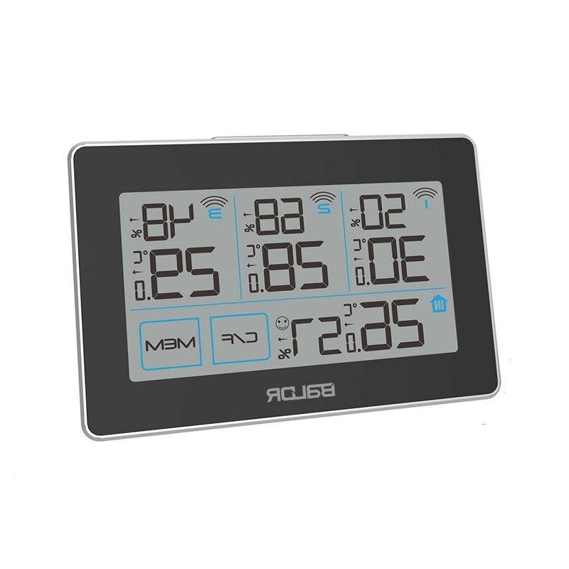 <font><b>Baldr</b></font> Wireless <font><b>Weather</b></font> Touch Screen LCD Thermometer Hygrometer Comfort <font><b>Weather</b></font> + Remote Sensor