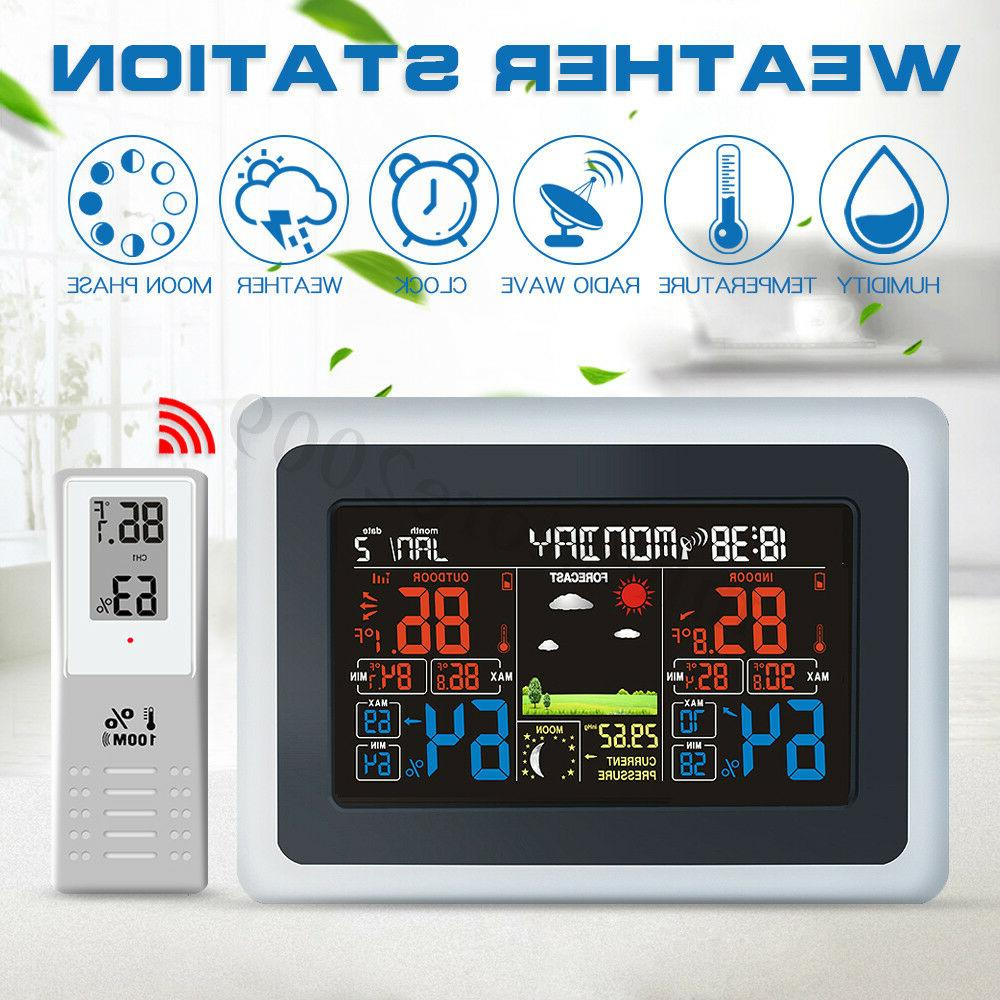 wireless large lcd weather station thermometer temp